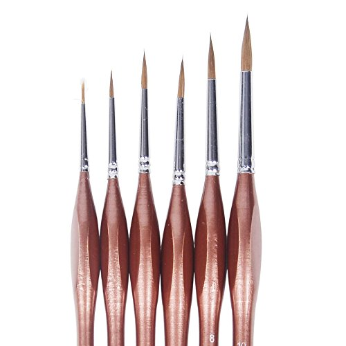 surblue-6-pcs-detail-paint-brush-set-artists-paintbrushes-mink-hair-triangular-wooden-handle-for-oil