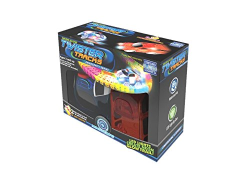 (Mindscope Twister Tracks Neon Glow in the Dark Add On Emergency Car Series set of 2 (Police Car and Fire Truck))