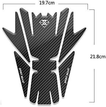 Zantec r/éservoir Autocollants pour Moto Suzuki BMW Honda Yamaha Kawasaki Vespa KTM eCC Accessoires Moto L sezione Stickers paraserbatoio pour Moto Protection pour r/éservoir Moto Sport 3D