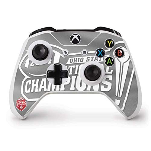 Skinit Football Champions Ohio State 2014 Xbox One S Controller Skin - Officially Licensed Ohio State University Gaming Decal - Ultra Thin, Lightweight Vinyl Decal Protection