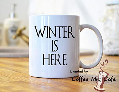 Amazon Winter Is Here Coffee Mug Mugs With Sayings Quotes