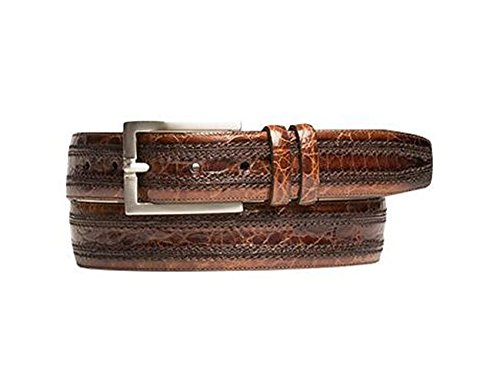 Mezlan Men's Black Belt AO9655 (US Men's 44, Black) (Mezlan Crocodile Belt)