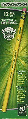 Dixon Ticonderoga Woodcase Pencil, HB #2, Yellow Barrel, 96/