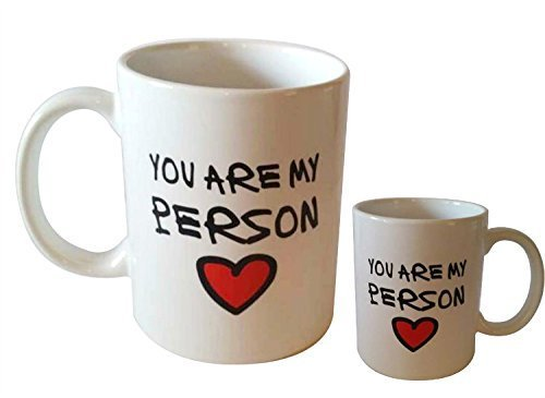 Vansaile Novelty Romantic Love Theme You're My Person Mug - You Are My Person Color Changing Mug Morphing Coffee Mug Cup, Awesome Romantic Gift Mug for Best Friend/Lovers//Valentine's Day (The Best Valentine Gifts)