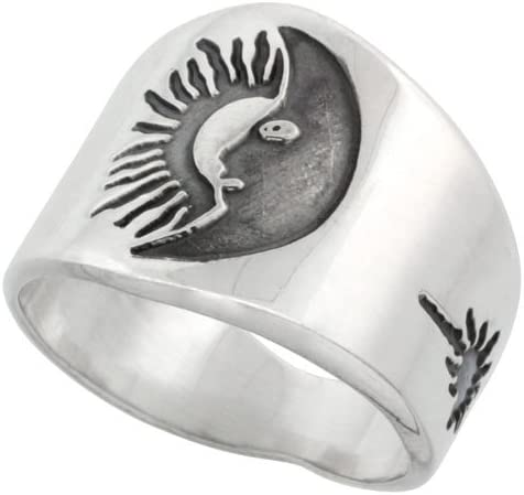 Sterling Silver Crystal Ring 925 stamped 18mm 17mm