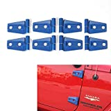 RT-TCZ Blue Door Hinge Cover Jeep Wrangler Accessories for 2007-2018 Jeep JK Wrangler Unlimited 4 Door (8PCS)