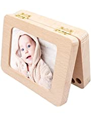 Baby Tooth Keepsake Box, Baby Tooth Fairy Keepsake Box,Wooden First Tooth And Curl Memory Container, Deciduous Teeth Milk Teeth Saver Boxes, Tooth Box & Holder For Child Kids Newborns, Lost Tooth Kids