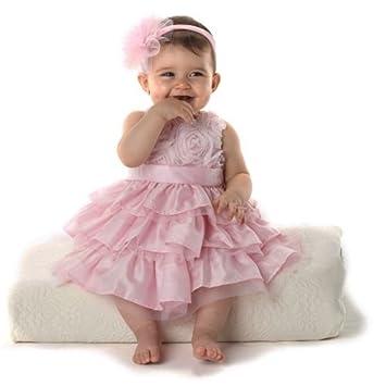 Amazon.com: mud pie bebé niña rosa vestido de seda (2T ...