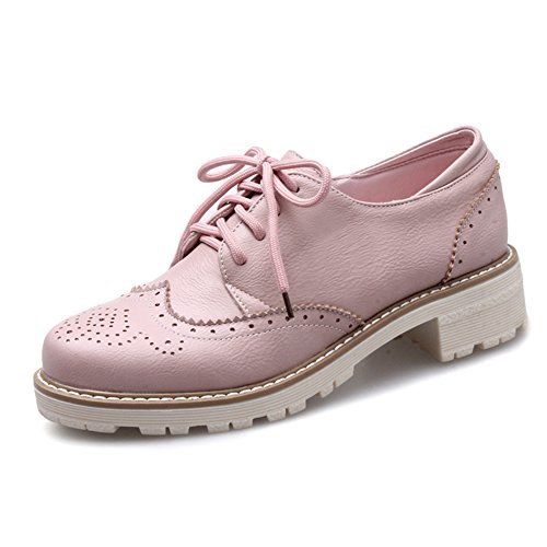 Viento británico estaba bajo zapatos con tacones gruesos/vintage tallado con zapatos profunda C