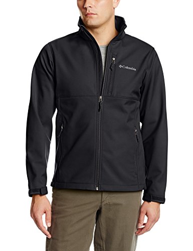 Columbia Men's Big & Tall Ascender Softshell Jacket, Black, Large/Tall