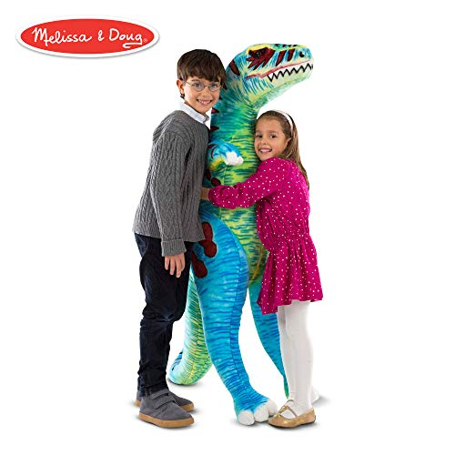 Melissa & Doug T-Rex Jumbo Plush Dinosaur (Lifelike Stuffed Animal, Over 4 Feet Tall)