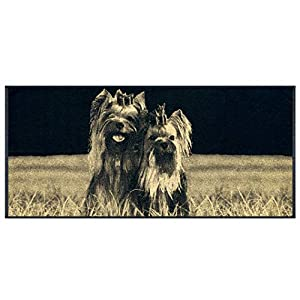 Amber Textile Towels with Dogs, 100% Cotton, Machine Washable,Quick-Dry, 26 x 59 inches - Yorkshire Terrier 2