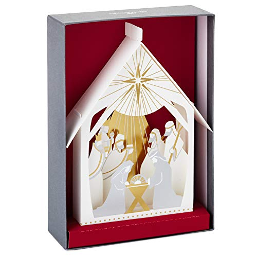 Hallmark Paper Craft Christmas Boxed Cards, Pop Up Nativity (5 Cards with ()