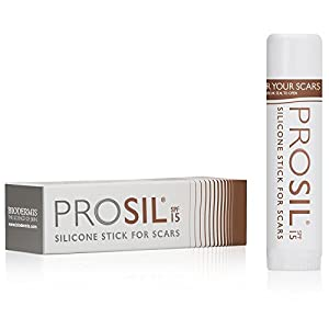Pro-Sil SPF (Pro-Sil Sport) Patented Silicone Scar Treatment Stick w/ Sunscreen (SFP 15) – Clinically Proven to Reduce the Appearance of Old & New Scars – Easy Glide-on Applicator, 17g