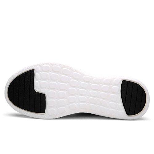 Hombres Zapatos deportivos Moda Respirable Ocio Zapatos de viaje Zapatos para correr Black