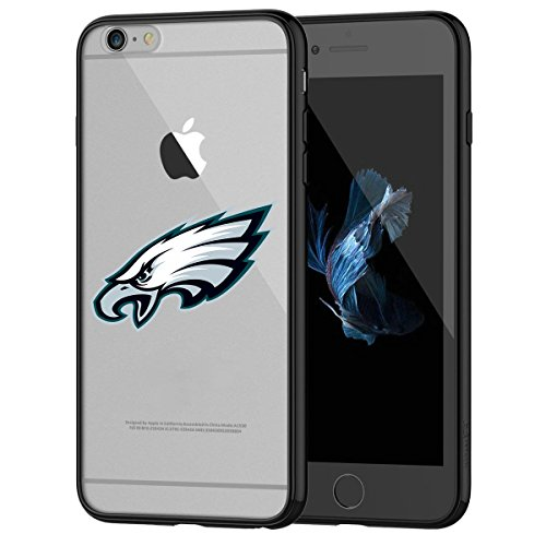 (Eagles iPhone 6s Tough Case, Shock Absorption TPU + Translucent Frosted Anti-Scratch Hard Backplate Back Cover for iPhone 6 / 6s - Black)