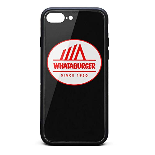 YJRTISF iPhone 7plus/8plus Case Shockproof Case Glass Rear Cover 9H Tempered Glass Back Cover Whataburger-Logo- Scratch Resistant Soft TPU Material Bumper for iPhone 7 Plus iPhone 8 Plus