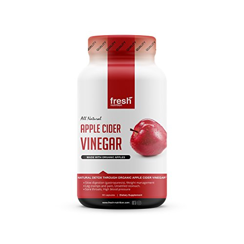 Apple Cider Vinegar Capsules Pills for Weight Loss Strongest 1500mg per Serving - Certified Organic Vegan friendly -Digestion & Weight Management - Leg Cramps & Pain - Unsettled Stomach & Sore Throats ()