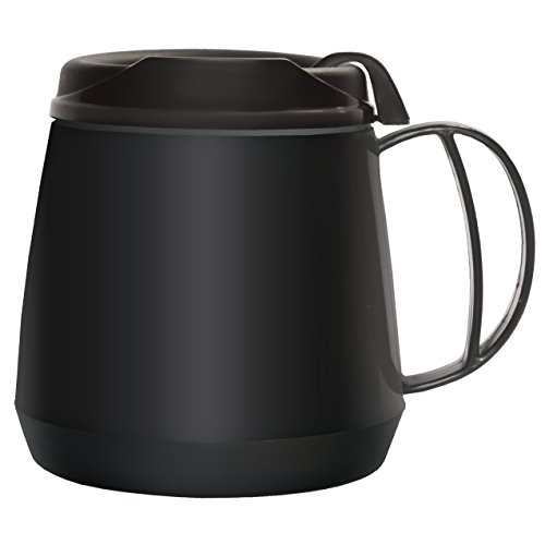 Rehabilitation Advantage Foam Insulated Wide Body Mug, Black