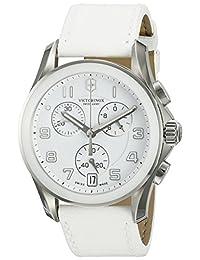 Swiss Army Women's 241500 White/White Leather Watch