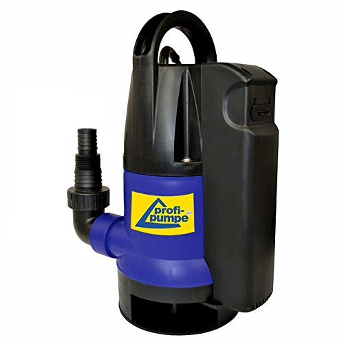 Submersible Pump, Dirt-Star-Extra-SS 750 with IntegratedFloat Switch, 10 m cable for use as garden pump for irrigation and as cellar pump for drainage Amur 7-TP02117