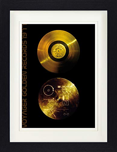 Records Framed Collector Poster - The Sounds of Earth, Voyager Golden Records (16 x 12 inches) ()
