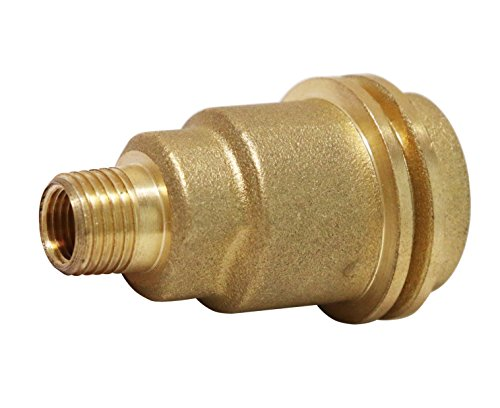 DOZYANT 5042 QCC1 Acme Nut Propane Gas Fitting Adapter with 1/4 Inch Male Pipe Thread, Brass