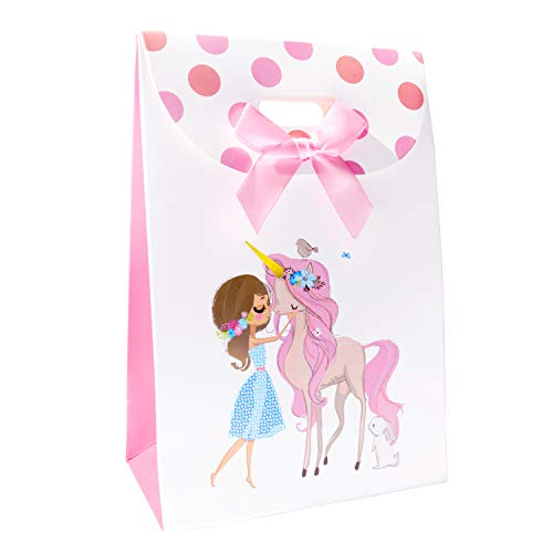 Price comparison product image Childrens Party Premium Unicorn Favor and Goodie Bags (12 pack) Great for Girls Birthdays - FREE eBook Included