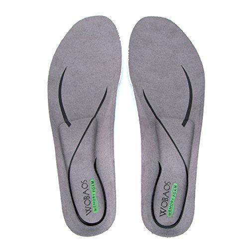 WOBAOS Memory Foam Shoe Insole, Sport Running Athletic Ba...