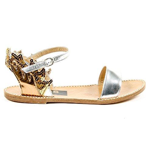 Oie Dor Femmes Sandale Plate Sangle De Cheville G24d297 A1