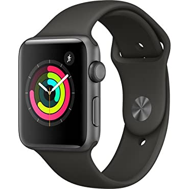Apple Watch Series 3 42mm GPS Aluminum Case with Gray Sport Band (Space Gray)