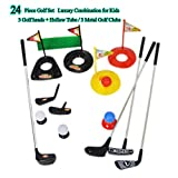 Big Size ! Popular Sport Play Toys Kids' Golf Accessories Kits Sets for Kids Toddler Children Golf Clubs Set Plastic Sprots Toys (24 Pcs)