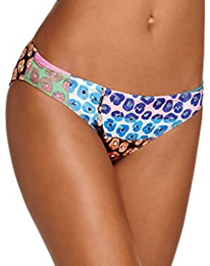 Women's Mod Poppies Neoprene Bikini Bottom M