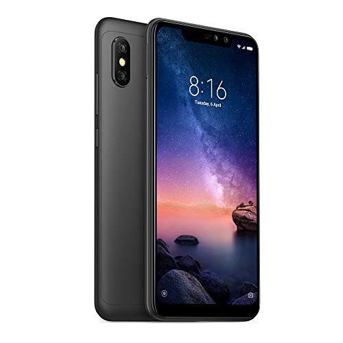 "Xiaomi Redmi Note 6 Pro 64GB / 4GB RAM 6.26"" Dual Camera LTE Factory Unlocked Smartphone Global Version (Black)"