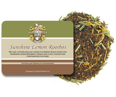 - Sunshine Lemon Rooibos Caffeine Free Tea - Loose Leaf - 16oz