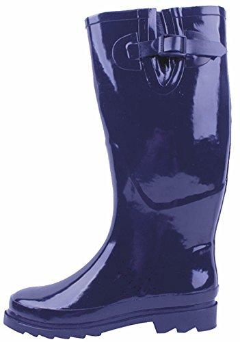 Stivali Da Pioggia In Gomma Da Donna Marca Sunville Blu Navy