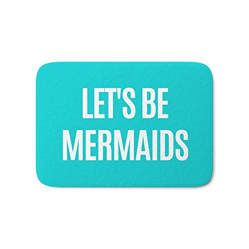 """Society6 Let's Be Mermaids (Turquoise) Bath Mat 17"""" x 24"""""""