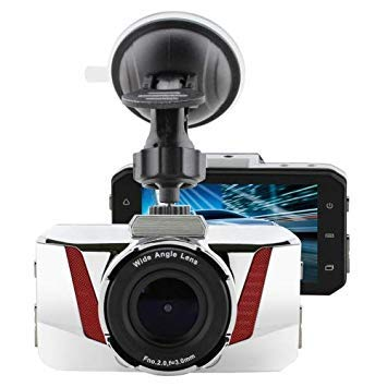 Uniqus GT2000ZL HD 1080P 3.0 inch Screen Display Vehicle DVR, Novatek Program, 170 Degree Wide Angle Viewing, Support Motion Detection, TF HDMI   AV(White)