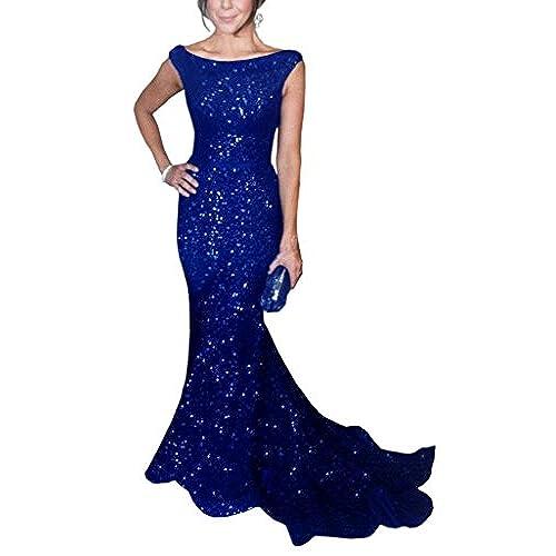 Royal Blue Sequin Gown: Amazon.com