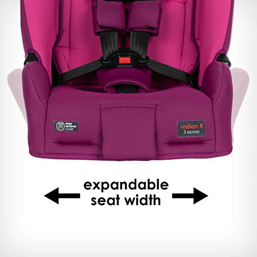 41iauYTZLsL - Diono Radian 3RX 3-in-1 Rear And Forward Facing Convertible Car Seat, Head Support Infant Insert, 10 Years 1 Car Seat Ultimate Safety And Protection, Slim Design - Fits 3 Across, Pink Blossom