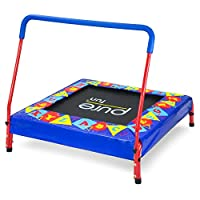 Pure Fun 36-inch Preschool Jumper Kids Trampoline with Handrail, Ages 3 to 7