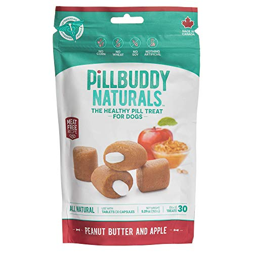 Pill Buddy Naturals, Peanut Butter & Apple Recipe for Dogs, 1 Pack, 30-Count