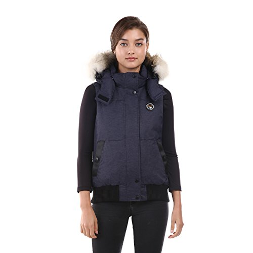 Triple F.A.T. Goose Saga Collection | Huntley Womens Down Vest (Large, Navy) by Triple F.A.T. Goose