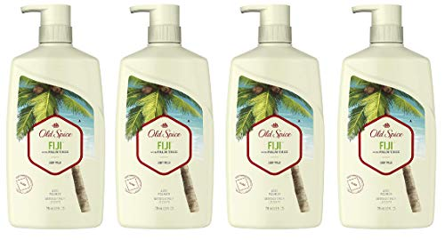 Old Spice Body Wash for Men, Fiji with Palm Tree Scent, 16 Fluid Ounce (Pack of 4)