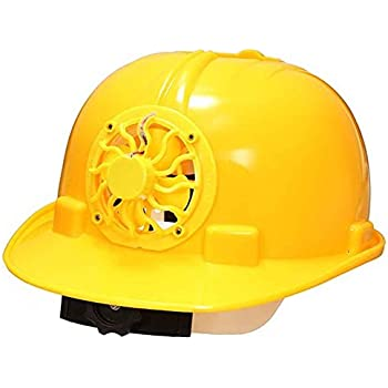 Safety Helmet With Solar Fan Ventilate Work Helmet Cooling