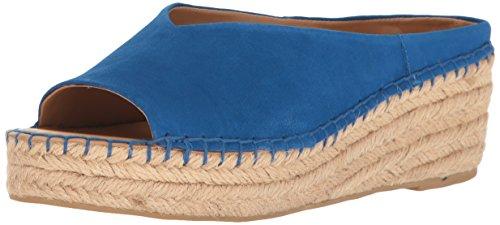 Franco Sarto Women L-Pine Espadrille Wedge Sandal Mediterranean Blue