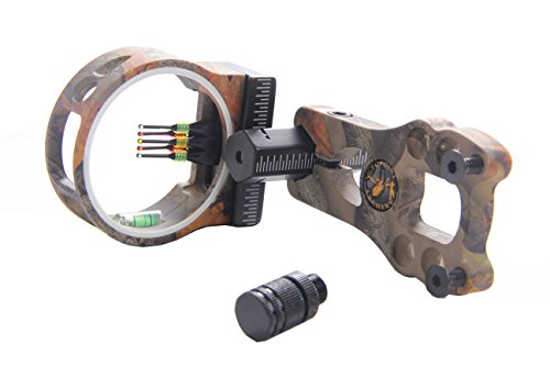 Pin Bow Sight Camo (FlyArchery 5 Pin Bow Sight - Fiber, Brass Pin, Aluminum Machined - Right and Left Handed (Camo))