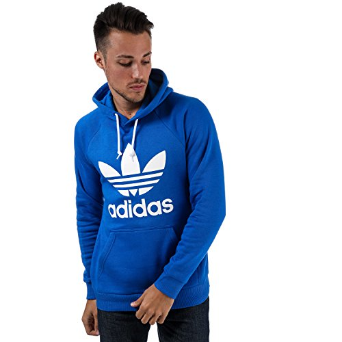 (adidas Originals Men's Trefoil Hoody L Blue)