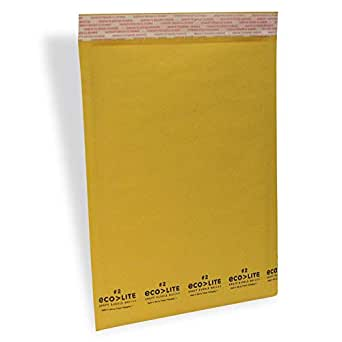 "Polyair Eco-lite #2 ELSS2 Golden Kraft Self Seal Bubble Mailer, 8 1/2"" x 12"" (Case of 100)"