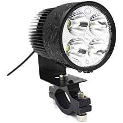 TurnRaise 20W High Power 2000LM Led Motorcycle Headlight Lamp Motorbike Led Spot Light for Bicycles Motorcycles Cars Trucks Boat Using